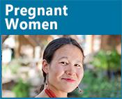 Pregnant Women icon: image of a pregnant woman